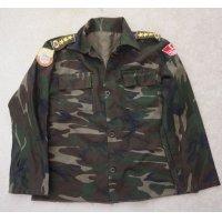 トルコ軍ウッドランド迷彩シャツ徽章付きS寸