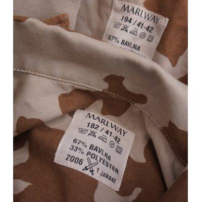 画像4: チェコ軍Vz.95砂漠迷彩シャツ
