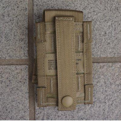 画像2: 米軍MOLLEII シングル40mmグレネードポーチOCP(マルチカム)