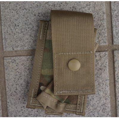 画像1: 米軍MOLLEII シングル40mmグレネードポーチOCP(マルチカム)