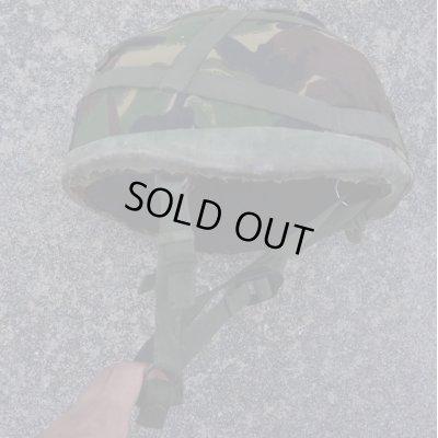 画像1: 英軍 空挺ケブラーヘルメットDPM迷彩ヘルメットカバー付きMEDIUM