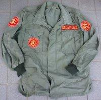韓国軍 米軍供与品M65フィールドジャケット2ndタイプ(アルミジッパータイプ)MEDIUM-REGULAR海兵隊戦友会パッチ付き