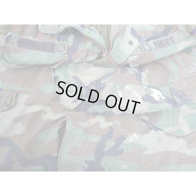 画像3: 米軍 米海軍徽章付きM65フィールドジャケット ウッドランド迷彩ブラスジッパー+プラスチックジッパー仕様MEDIUM-REGULARライナー付き