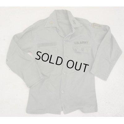 画像1: 米軍PX品ユーティリティシャツ1stタイプ型 歩兵学校少尉パッチ付きMEDIUM?