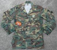 韓国軍第23師団捜索隊着用シンガポール軍リーフ迷彩ジャケットSMALL