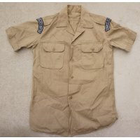 ギリシャ軍 海軍海兵隊 夏季制服カーキ色シャツ徽章付きサイズ2