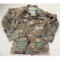 米軍 米海兵隊ウッドランドBDUジャケット海兵隊スタンプ入り