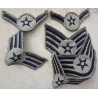 米軍 米空軍ABU用兵・下士官用階級章2枚セット