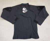米法執行機関放出TRU-SPEC製TRU 1/4 ジップ コンバットシャツ黒 新品
