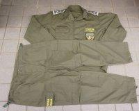 マケドニア国境警察OD戦闘服上下セットX-LARGE新品 徽章付き