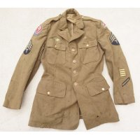 第二次世界大戦 米軍 制服ジャケット第6軍4等技術兵パッチ付き