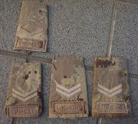 カナダ軍デザートCADPAT迷彩階級章