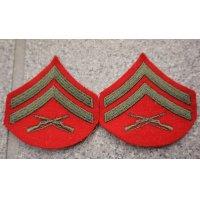 米軍 米海兵隊 兵・下士官用 制服ジャケット用袖用階級章2枚セット各種