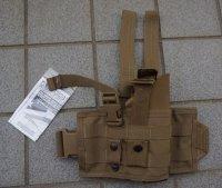 米軍放出SPEC-OPS VAPORレッグホルスターCB(コヨーテブラウン)ベレッタM9用 新品