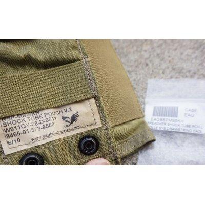 画像3: 米軍イーグルSFLCS V.2ショックチューブポーチ カーキ新品