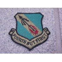 米軍 米空軍 第4戦闘航空団サブデュード部隊章カットエッジタイプ後期型