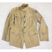 第一次世界大戦 米軍M1912夏季制服ジャケット第89歩兵師団二等兵パッチ付き