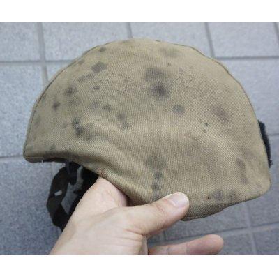 画像2: 英軍放出MSA製MICH-2000ヘルメット黒MEDIUM IDパッチ・DBT製コヨーテタンカバー付き