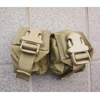 米軍イーグルSFLCS V.2ダブルハンドグレネードポーチ カーキ新品