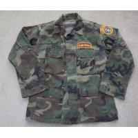 ヤングマリーンズ使用カモディストリビューターズ製ウッドランド迷彩BDUジャケットSMALL-REGULAR