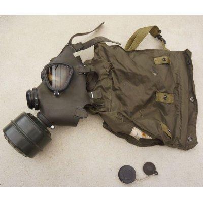 画像1: イラク軍M85ガスマスク ガスマスクバッグ付きサイズIII