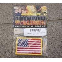 米軍放出ブラックホーク ベルクロ付き星条旗フラッグパッチ フルカラー品 新品