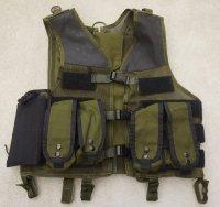 米海軍特殊部隊放出ブラックホークOMEGAモジュラーベストOD改造品ポーチ5個付き旧タグ品