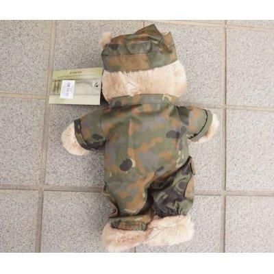 画像2: MIL-TECミリタリー仕様テディベア ドイツ連邦軍フレクター迷彩(フレック迷彩)新品