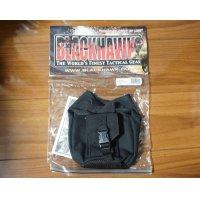 ブラックホーク ベルトループ式ストロボライトポーチ付きキャンティーンポーチ黒 新品