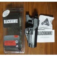 ブラックホークSERPA LEVEL3ヒップホルスター黒コルトガバメント用 新品