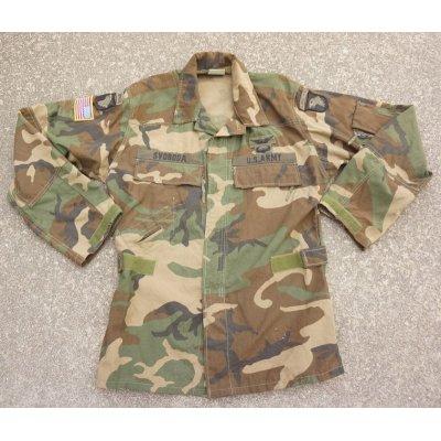 画像1: 米軍ウッドランドABDUエアクルージャケット後期型MEDIUM-LONG第101空挺師団エアクルーパッチ付