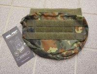MIL-TECドロップダウンポーチ ドイツ連邦軍フレクター迷彩(MOLLEポーチとしても使用可)新品