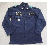 韓国製テーラーメイド警察制服シャツ サンプル品