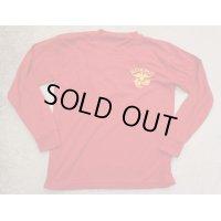 韓国軍 海軍海兵隊Tシャツ刺繍入り赤