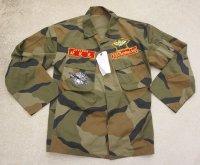 韓国軍 海軍海兵隊ブロックパターン迷彩ジャケット パッチ付き