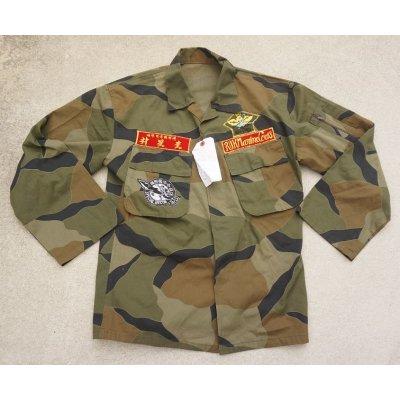 画像1: 韓国軍 海軍海兵隊ブロックパターン迷彩ジャケット パッチ付き
