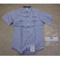 米軍 米海軍ユーティリティワークシャツ半袖仕様MEDIUM新品