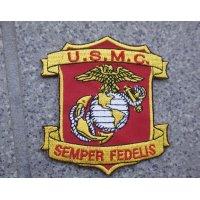 米軍放出 米海兵隊エンブレム パッチ新品