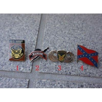 画像1: 米軍放出ピンバッジ各種(部隊章・国旗など)