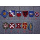 米軍 米陸軍フルカラー部隊章カットエッジタイプ各種