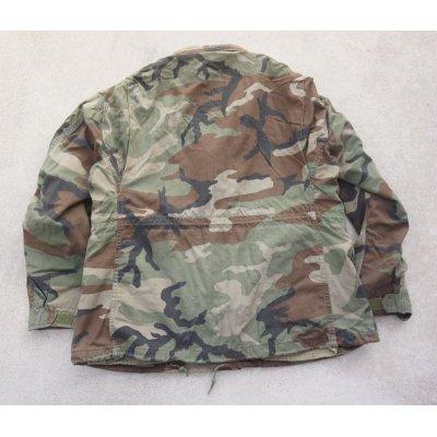画像2: 輸出用? 米軍放出M65フィールドジャケット ウッドランド迷彩ブラスジッパー仕様DBAコントラクト品LARGE-REGULAR