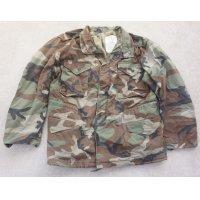 輸出用? 米軍放出M65フィールドジャケット ウッドランド迷彩ブラスジッパー仕様DBAコントラクト品LARGE-REGULAR