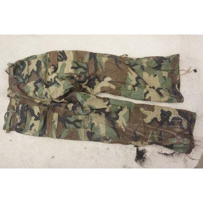 画像2: 米軍NBCスーツ ケミカルパンツ ウッドランド迷彩 初期型