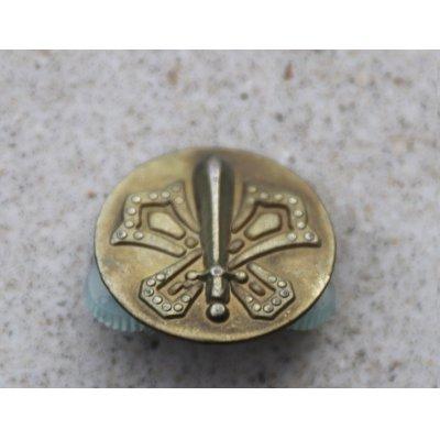 画像1: 韓国軍 韓国陸軍 製服用金属製歩兵科兵科章