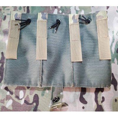 画像2: 受注生産◆当店オリジナル品CRYE AVS用パラクレイト型ベルクロ付きトリプルマガジンポーチフラップMULTICAM迷彩 新品